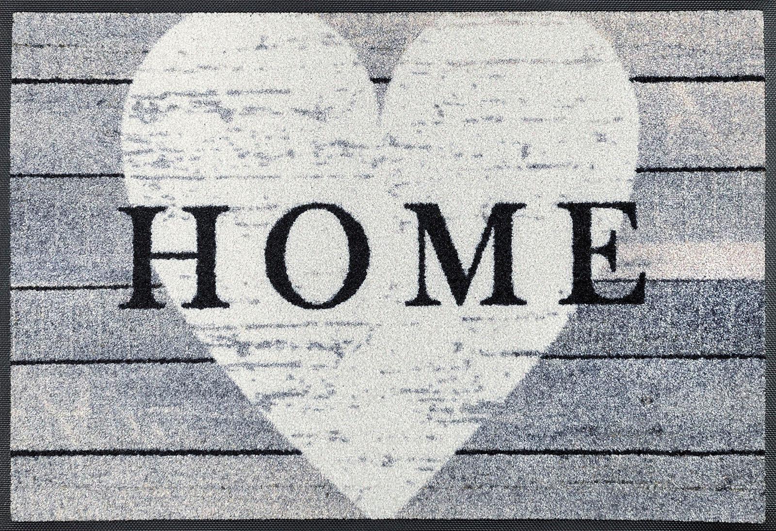 Fußmatte »Heart at Home«, wash+dry by Kleen-Tex, rechteckig, Höhe 7 mm