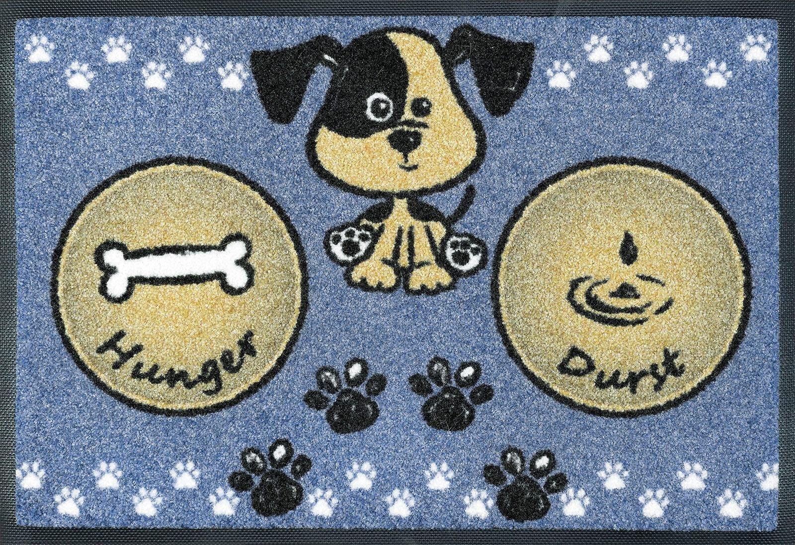 Fußmatte »Hundemahlzeit«, wash+dry by Kleen-Tex, rechteckig, Höhe 7 mm | Heimtextilien > Fussmatten | wash+dry by Kleen-Tex