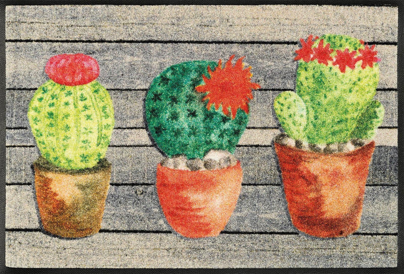 Fußmatte »Jardin de Cactus«, wash+dry by Kleen-Tex, rechteckig, Höhe 7 mm
