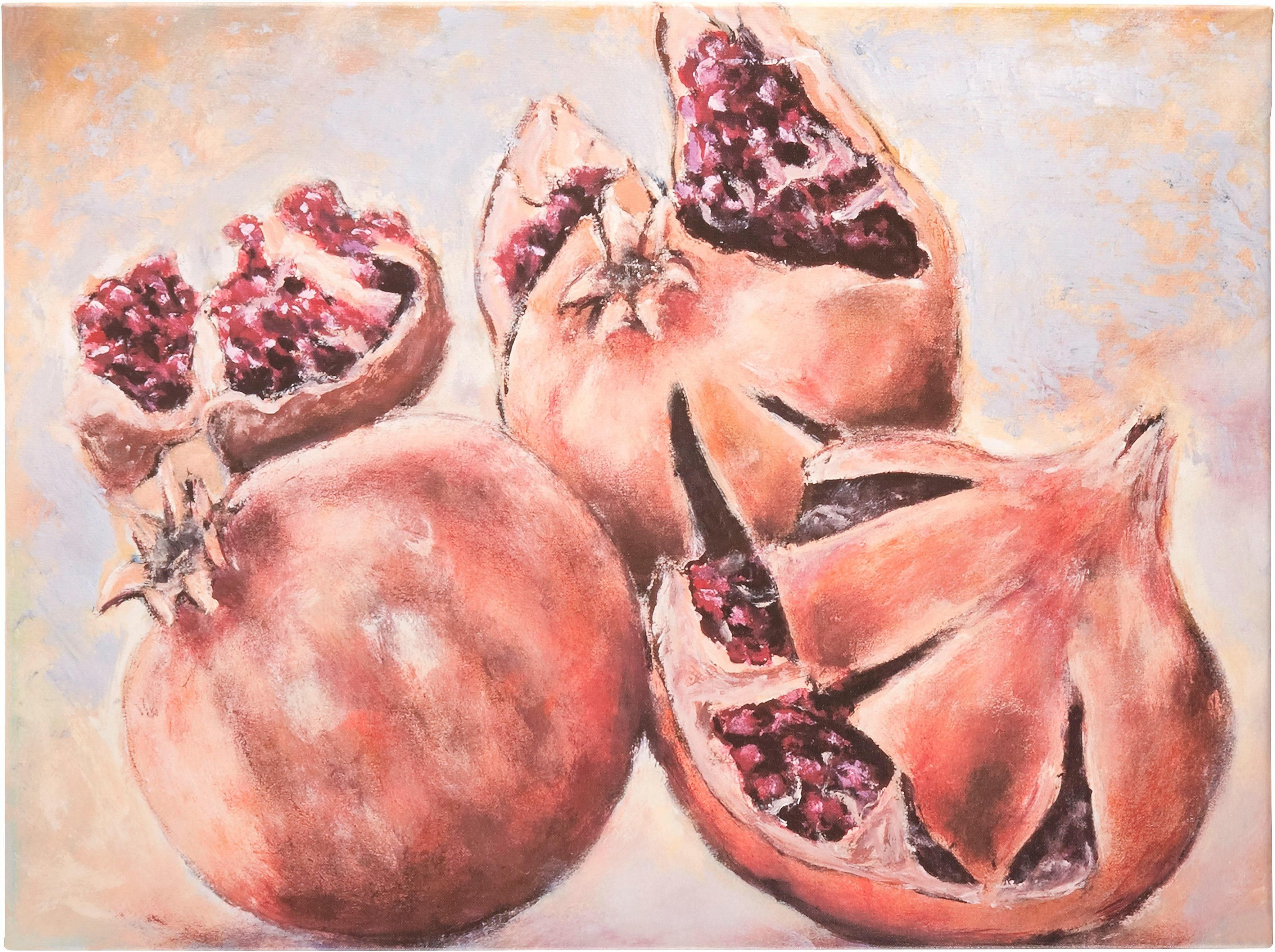 Guido Maria Kretschmer Home&Living Leinwandbild »Granatäpfel«, Obst, von Frank Mutters, gerahmt, Keilrahmen