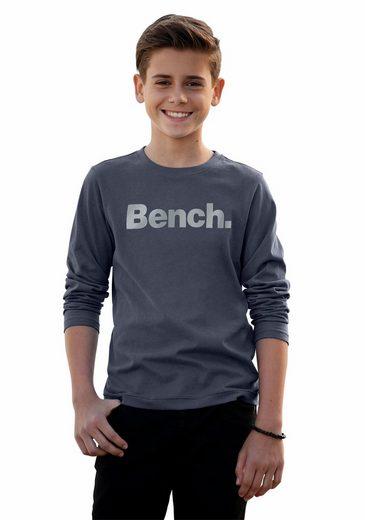 Bench. Langarmshirt mit großem Logo-Druck