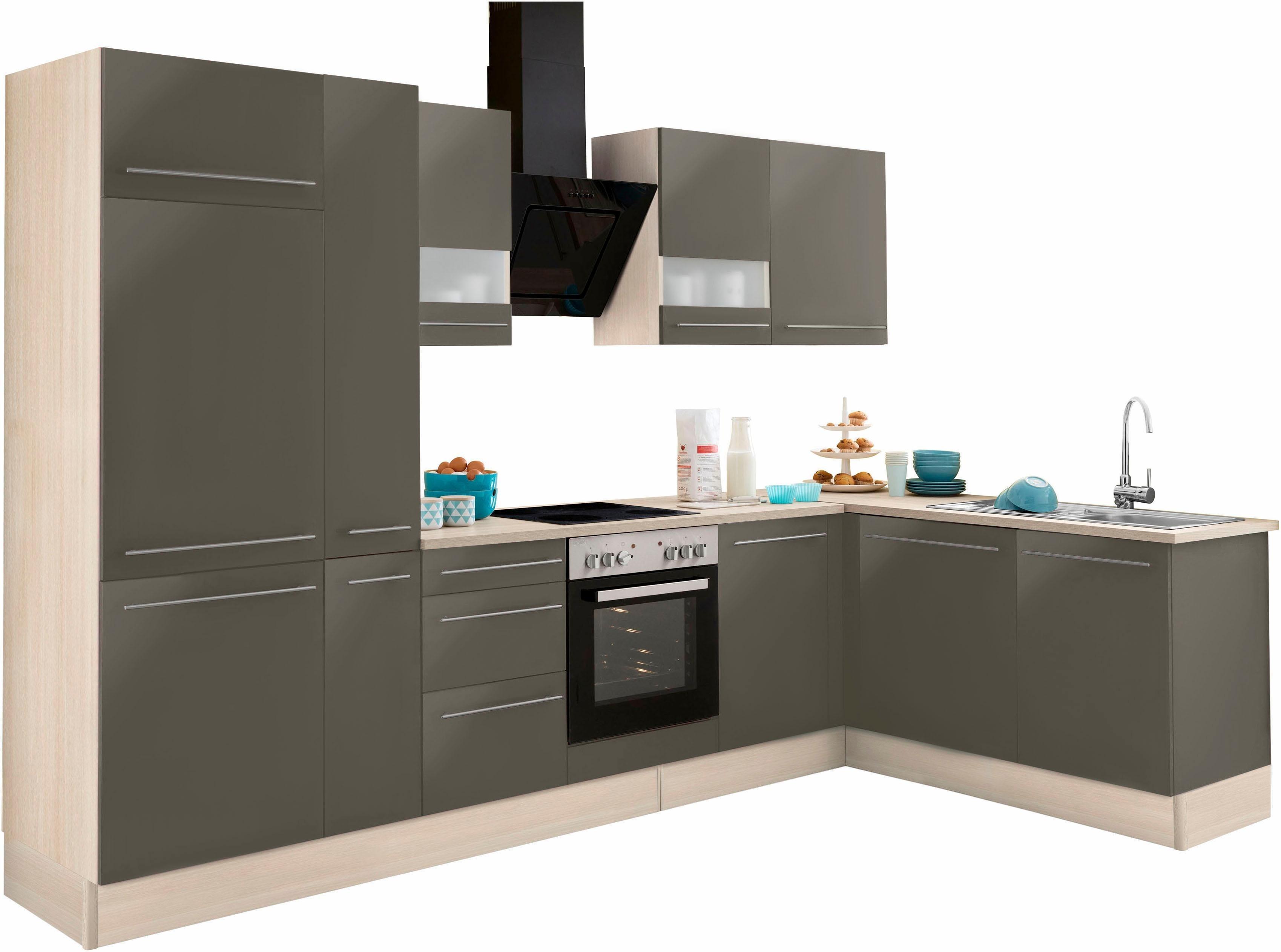 OPTIFIT Winkelküche mit E-Geräten »Bern«, Stellbreite 315 x 175 cm