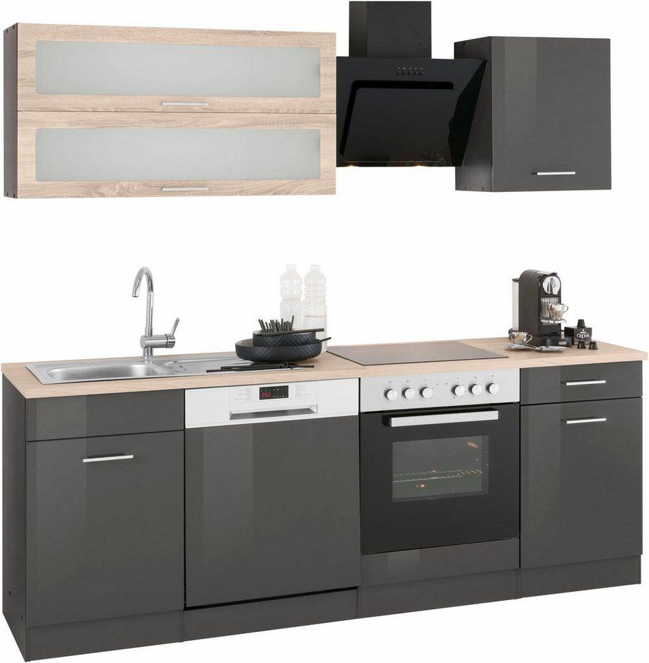 Beautiful kuchenzeile 220 cm mit elektrogeraten photos for Küchenzeile ohne ger te kaufen