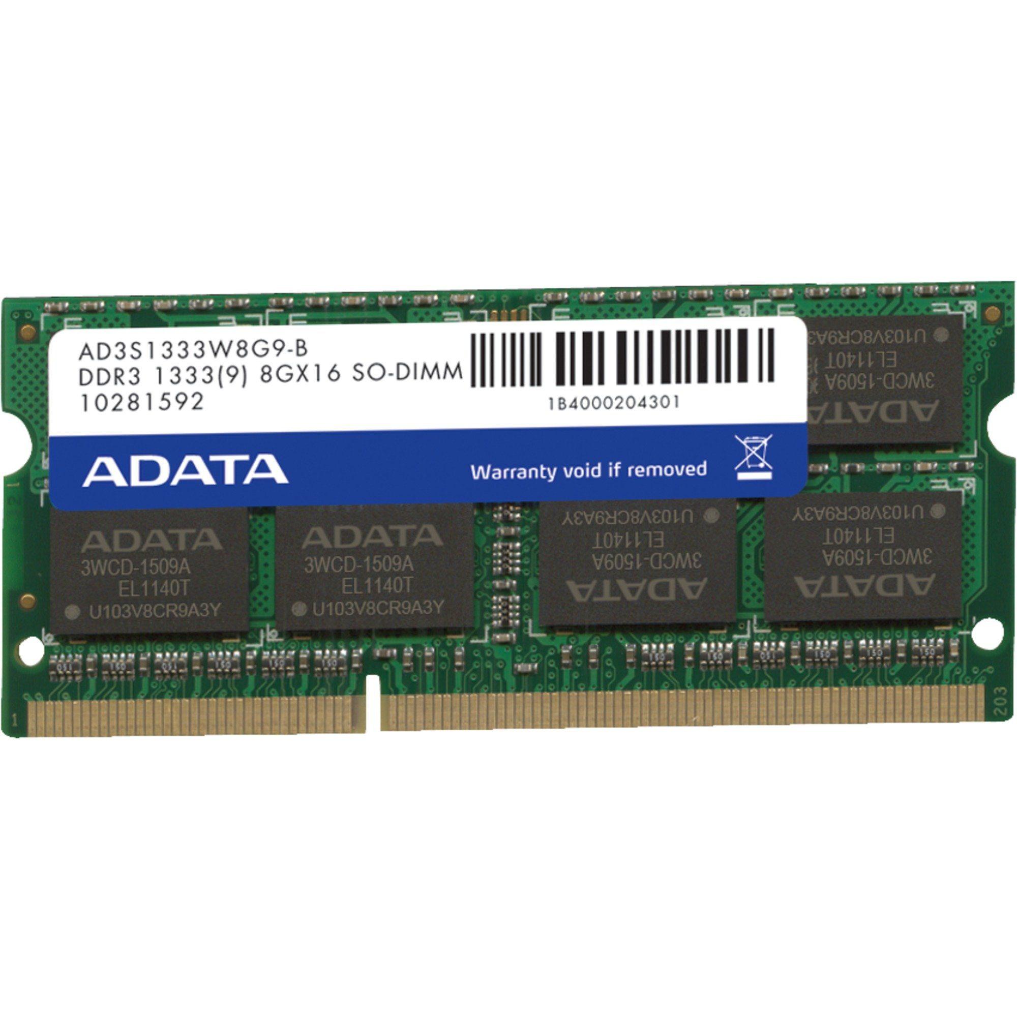 ADATA Arbeitsspeicher »SO-DIMM 8 GB DDR3-1333«