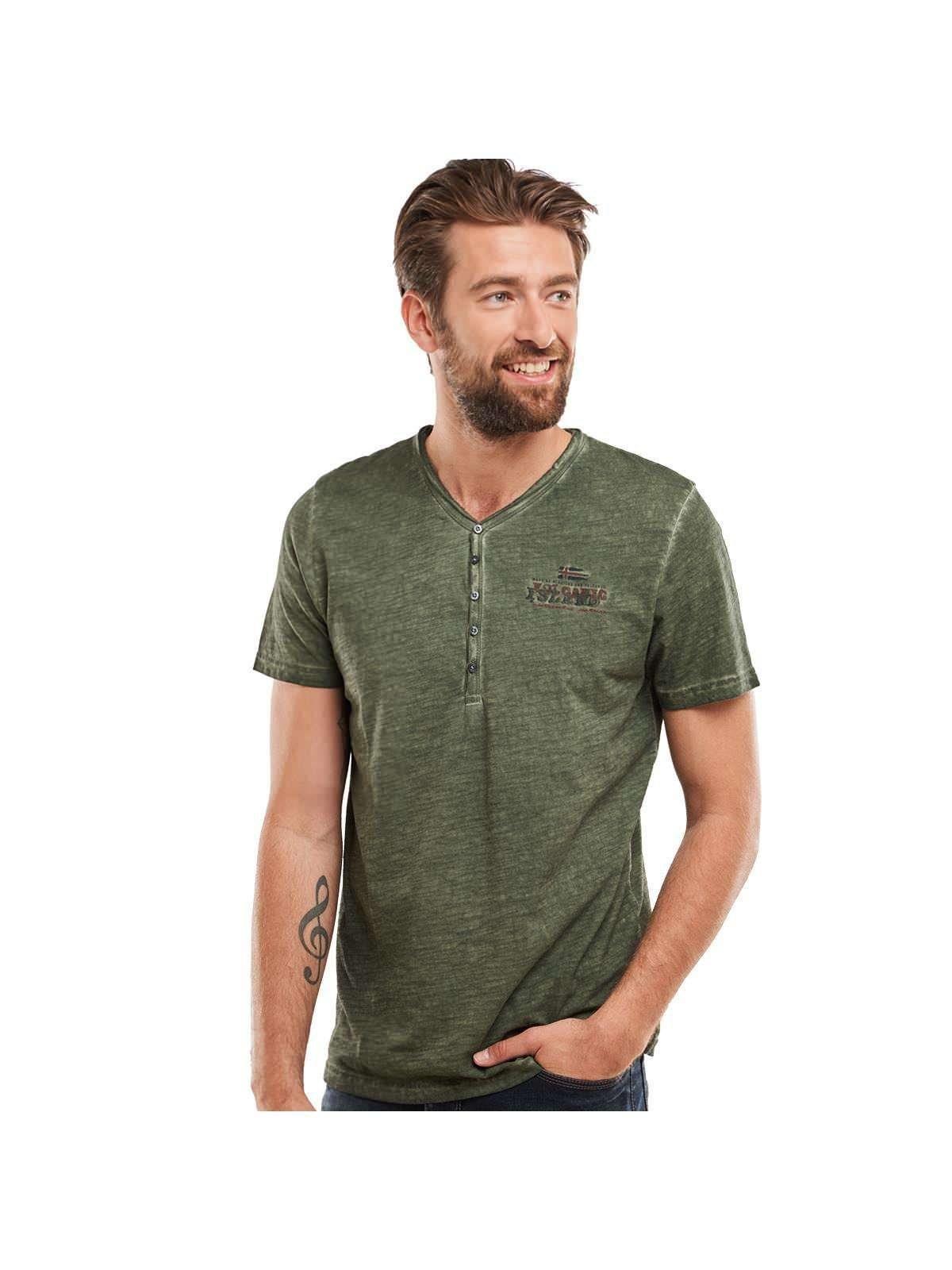 engbers Henley T-Shirt   Bekleidung > Shirts > Sonstige Shirts   Grün   Baumwolle   Engbers