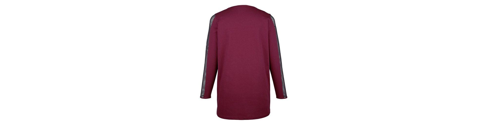 MIAMODA Shirt mit transparenten Netz-Einsätzen an den Ärmeln Günstige Top-Qualität Billig Verkauf Amazon Aussicht Günstig Kaufen Suche Spielraum Offiziellen i3tS2du