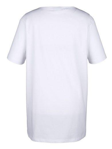MIAMODA Longshirt mit zwei Herzmotiven