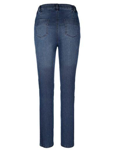 MIAMODA Jeans mit Biesennähten an den Knien