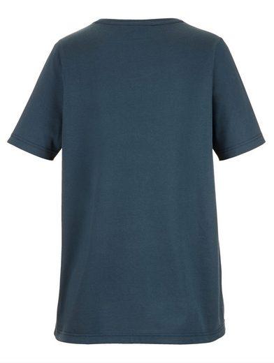 MIAMODA Shirt vorne mit Motiv aus Nieten