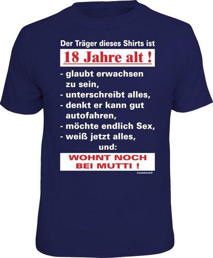 Rahmenlos T-Shirt »Der Träger dieses Shirts ist 18 Jahre alt«