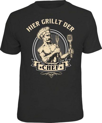 Rahmenlos T-Shirt »Hier grillt der Chef!«
