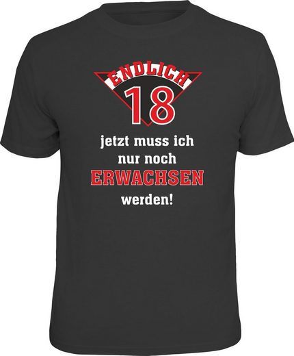 Rahmenlos T-Shirt »Endlich 18«
