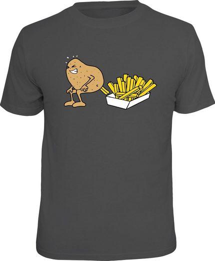 Rahmenlos T-Shirt mit Motiv »Making Pommes«