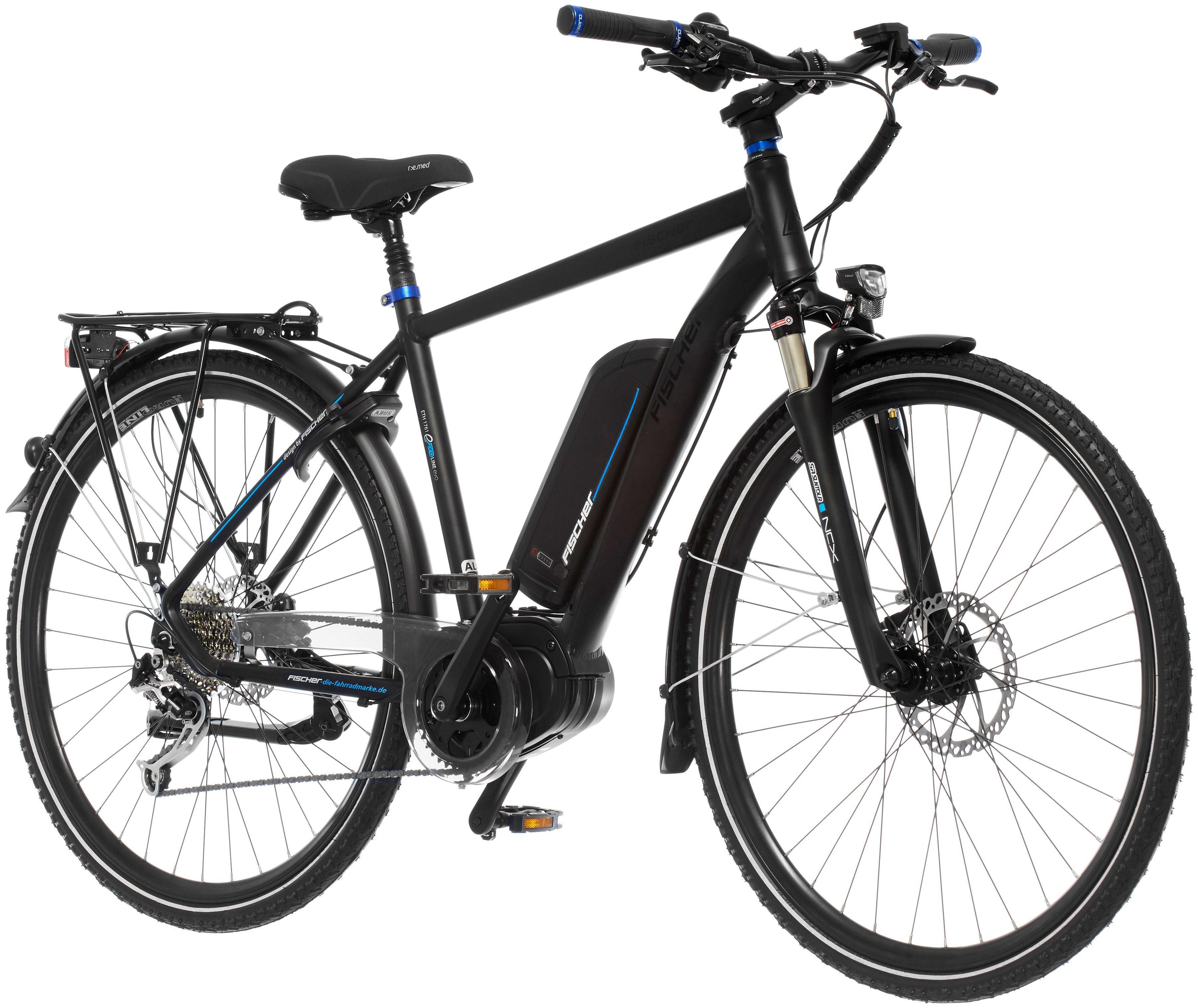 FISCHER FAHRRAEDER E-Bike Trekking Herren »ETH 1761«, 28 Zoll, 9 Gang, Mittelmotor, 557 Wh