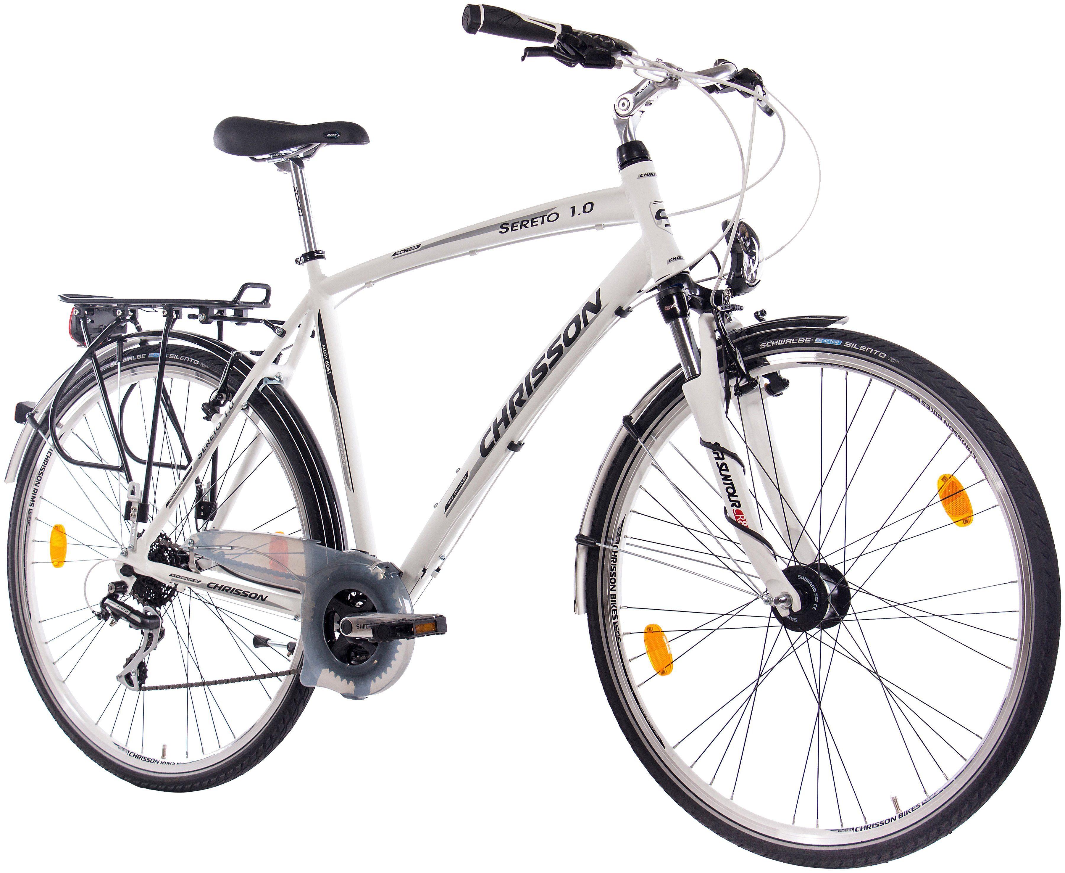 CHRISSON Citybike Herren »Alloy SERETO Gent «, 28 Zoll, 24 Gang, V-Bremsen