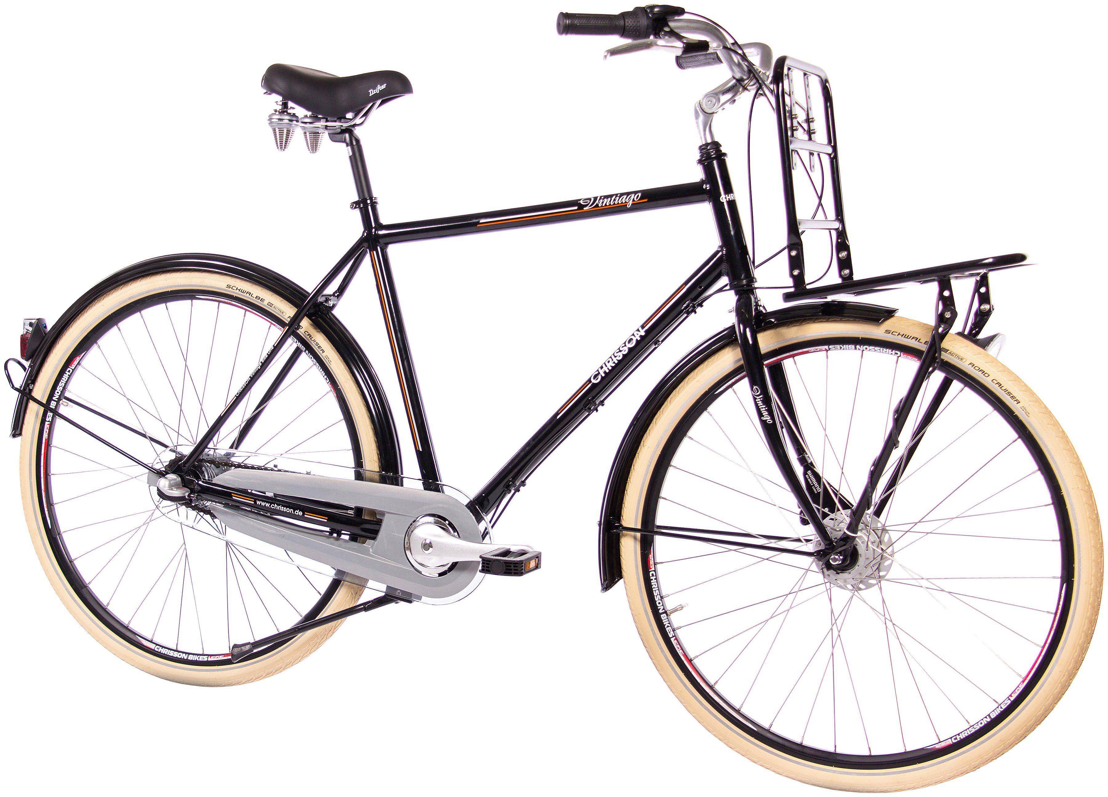 CHRISSON Citybike Herren »VINTIAGO Gent«, 28 Zoll, 3 Gang