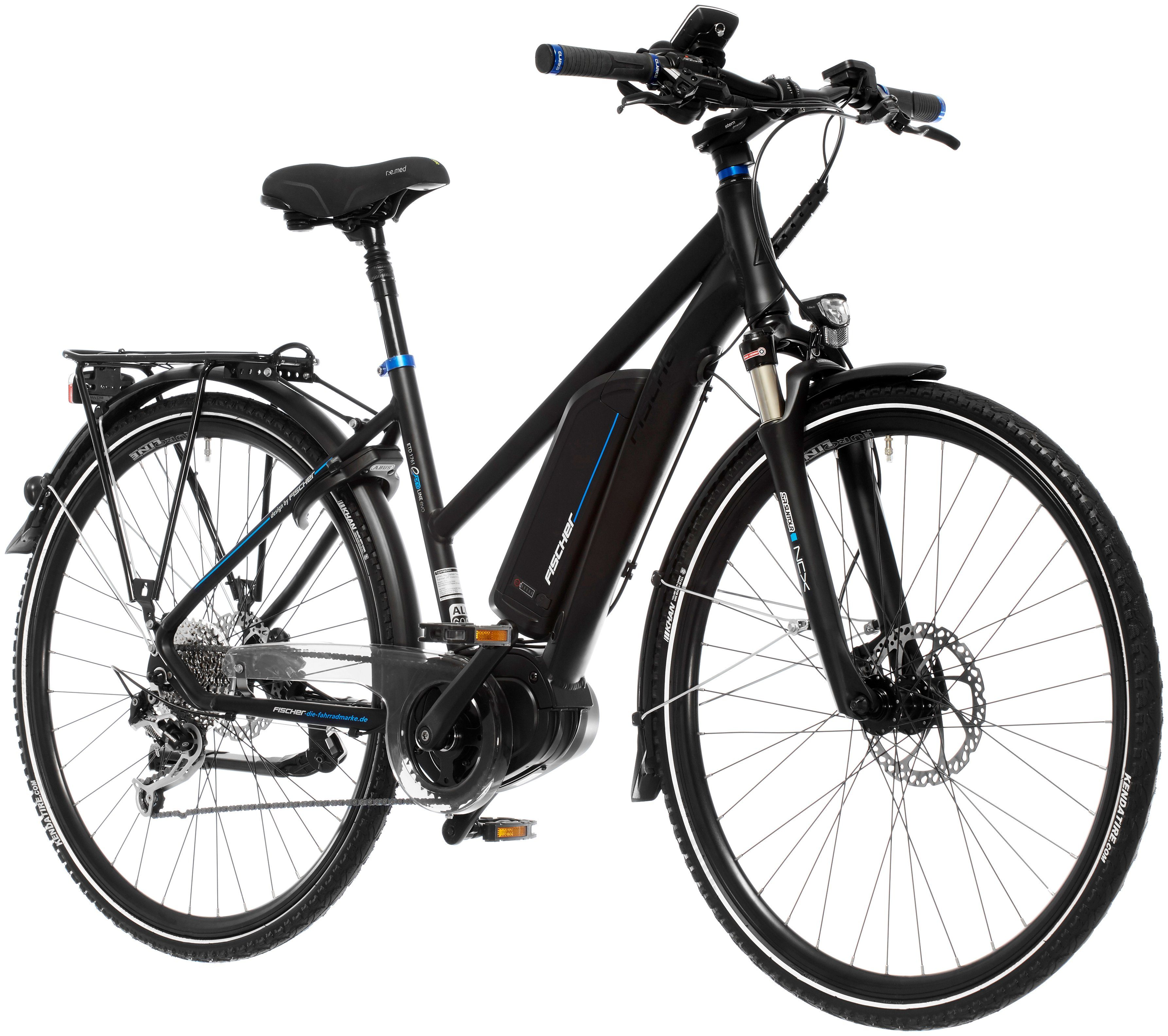 FISCHER FAHRRAEDER E-Bike Trekking Damen »ETD 1761-R1«, 28 Zoll, 9 Gang, Mittelmotor, 557 Wh
