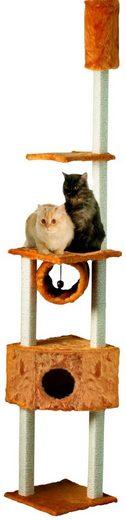 CAT DREAM Kratzbaum-Deckenspanner »Duo«, B/T/H: 40/40/230-260 cm, honigbraun