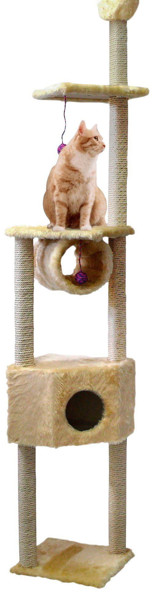 CAT DREAM Kratzbaum-Deckenspanner »Duo«, B/T/H: 40/40/230-260 cm, beige