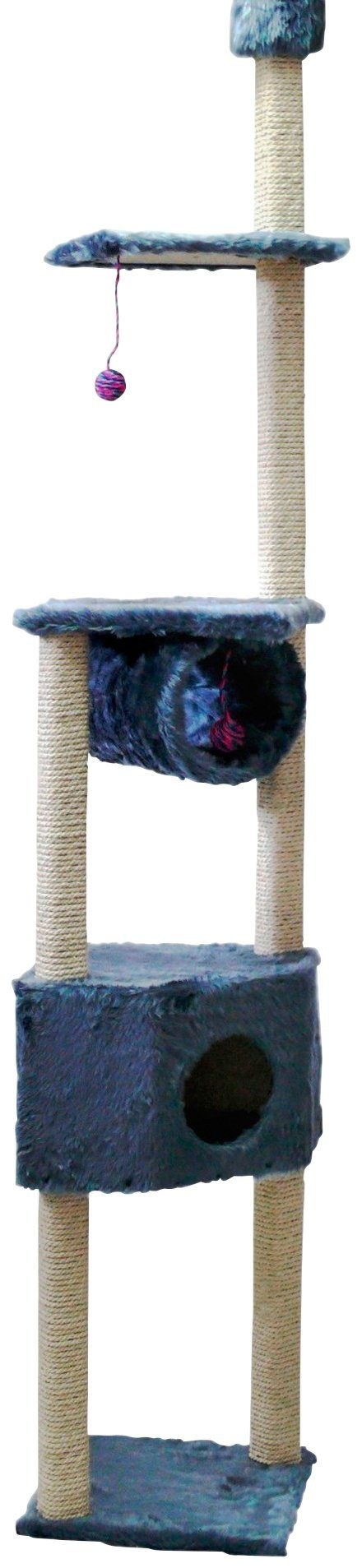 CAT DREAM Kratzbaum-Deckenspanner »Duo«, B/T/H: 40/40/230 cm, blau