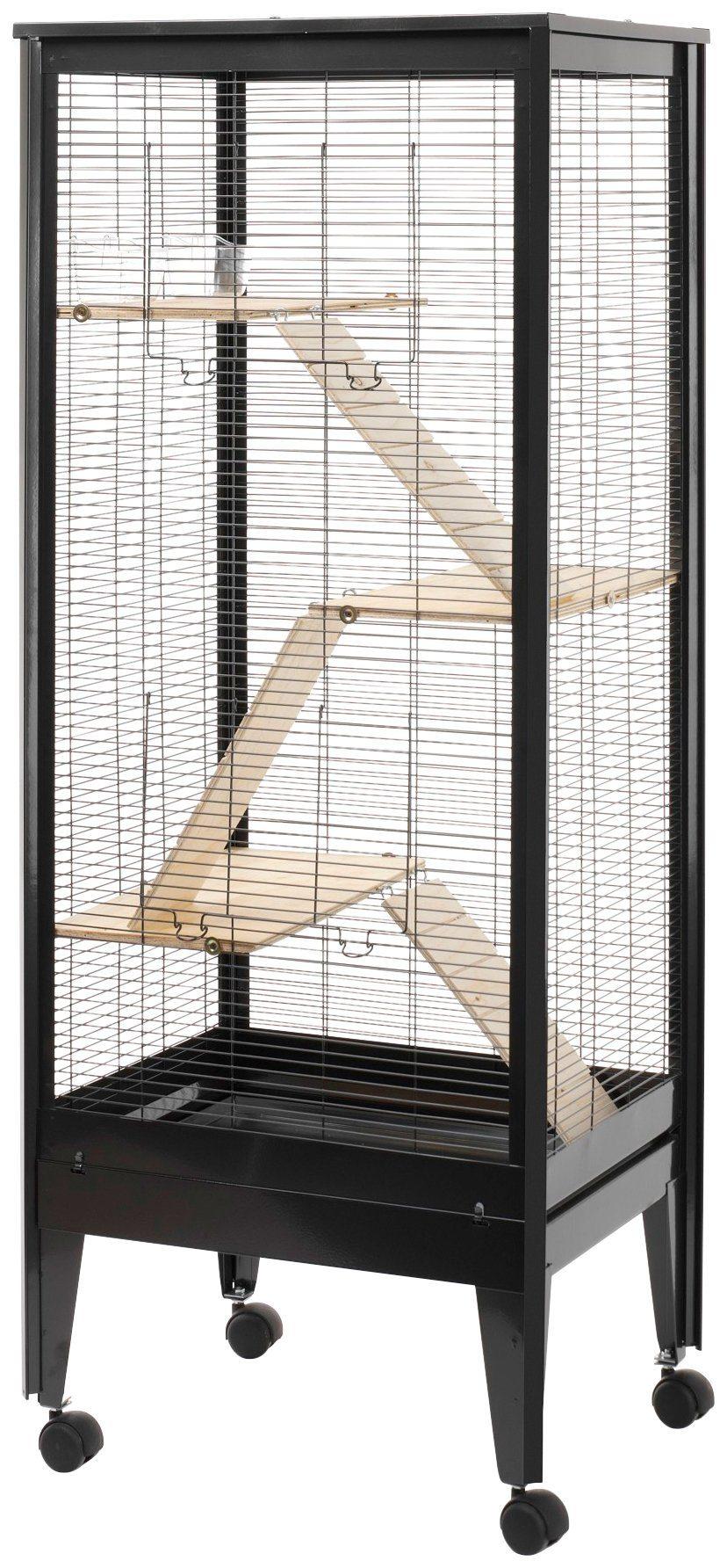 ROHRSCHNEIDER Kleintierkäfig »Mailand«, B/T/H: 59/47/150 cm, schwarz