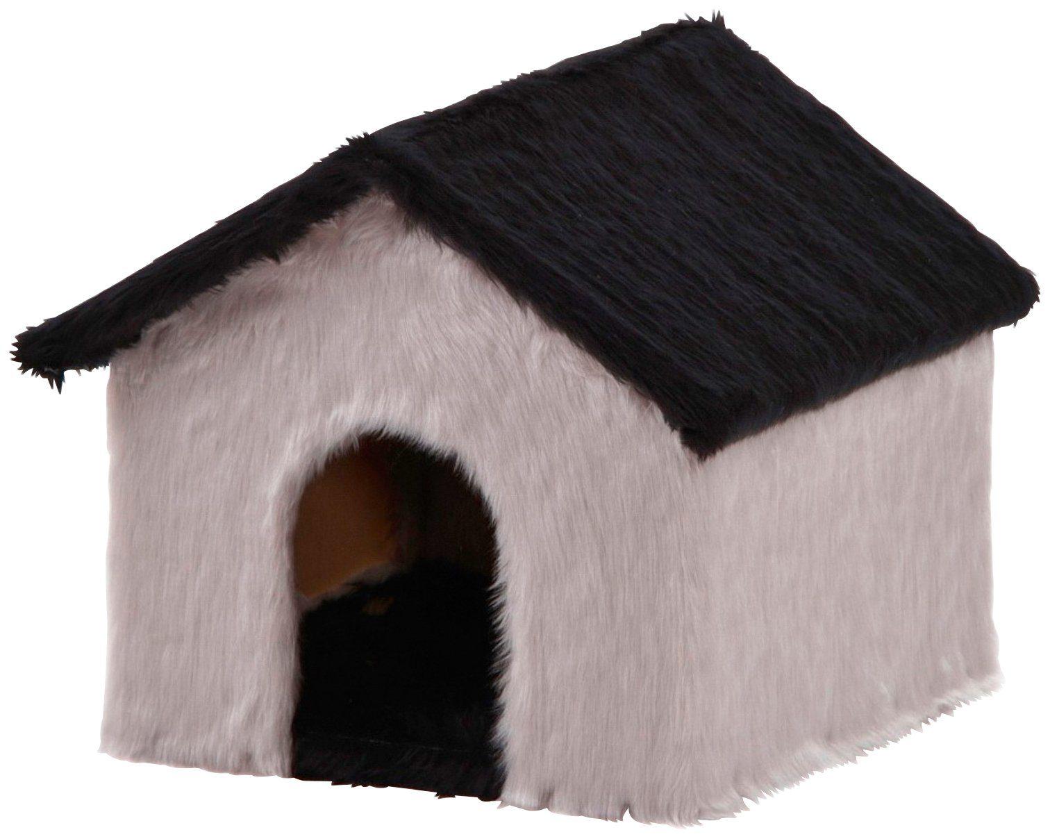 SILVIO DESIGN Katzenhaus , B/L/H: 30/36/35 cm, grau/schwarz