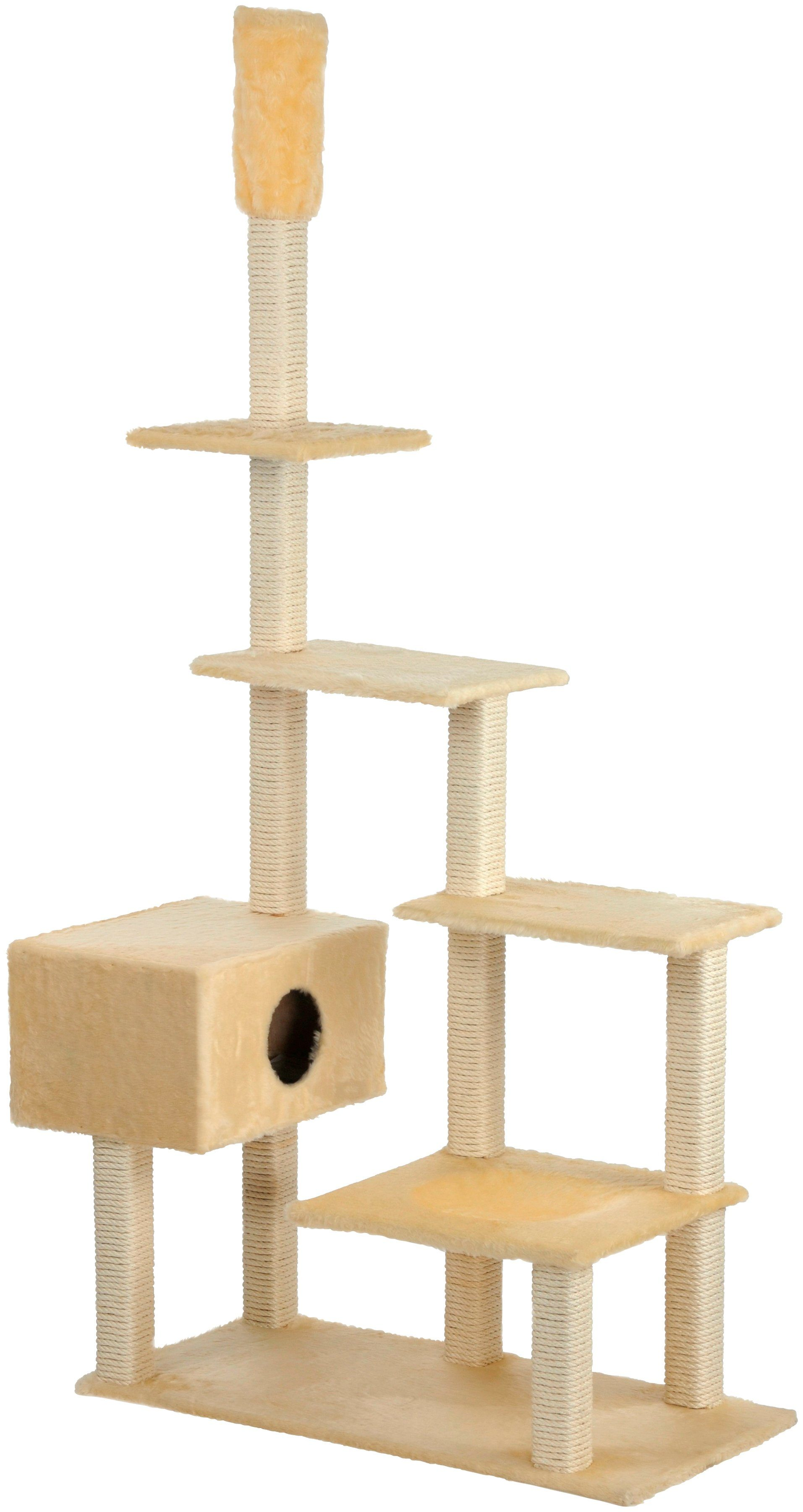 CAT DREAM Kratzbaum-Deckenspanner »Big House«, B/T/H: 120/75/230-260 cm, beige