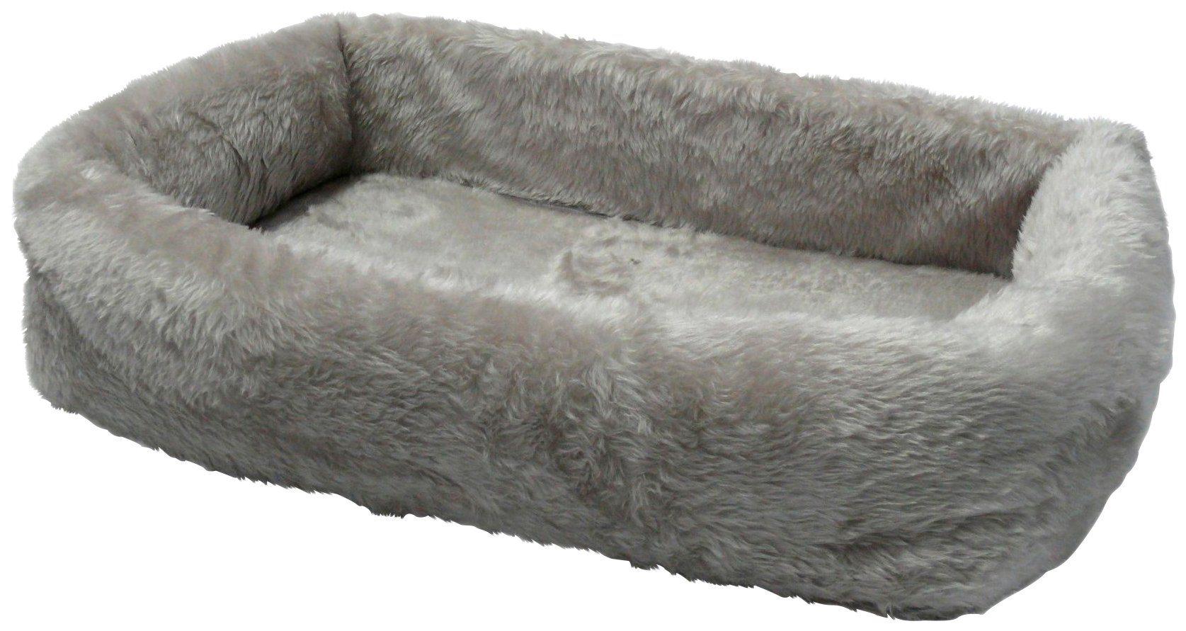 SILVIO DESIGN Hundebett und Katzenbett »de Luxe 75«, B/L/H: 75/45/17 cm, grau