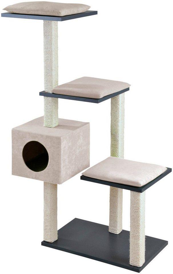 silvio design kratzbaum stufenboy cosy b t h 80 36 126 cm anthrazit sand online kaufen otto. Black Bedroom Furniture Sets. Home Design Ideas