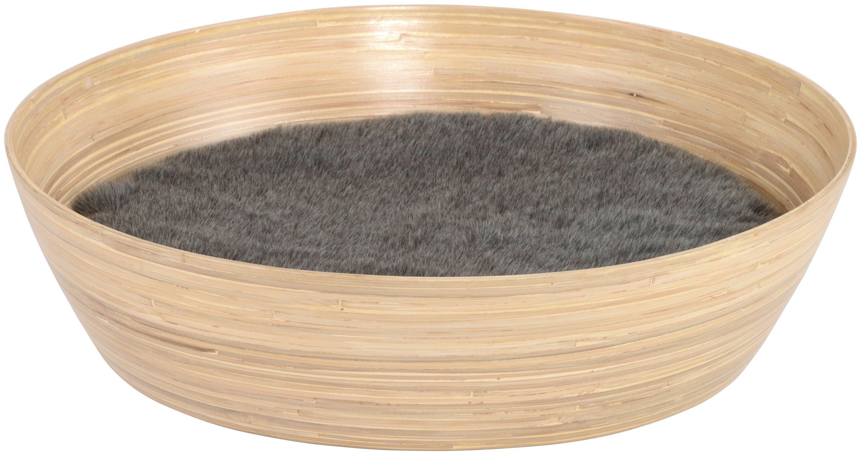 SILVIO DESIGN Katzenkorb »Ajumi Gr. 2«, B/L/H: 60/60/15 cm, natur