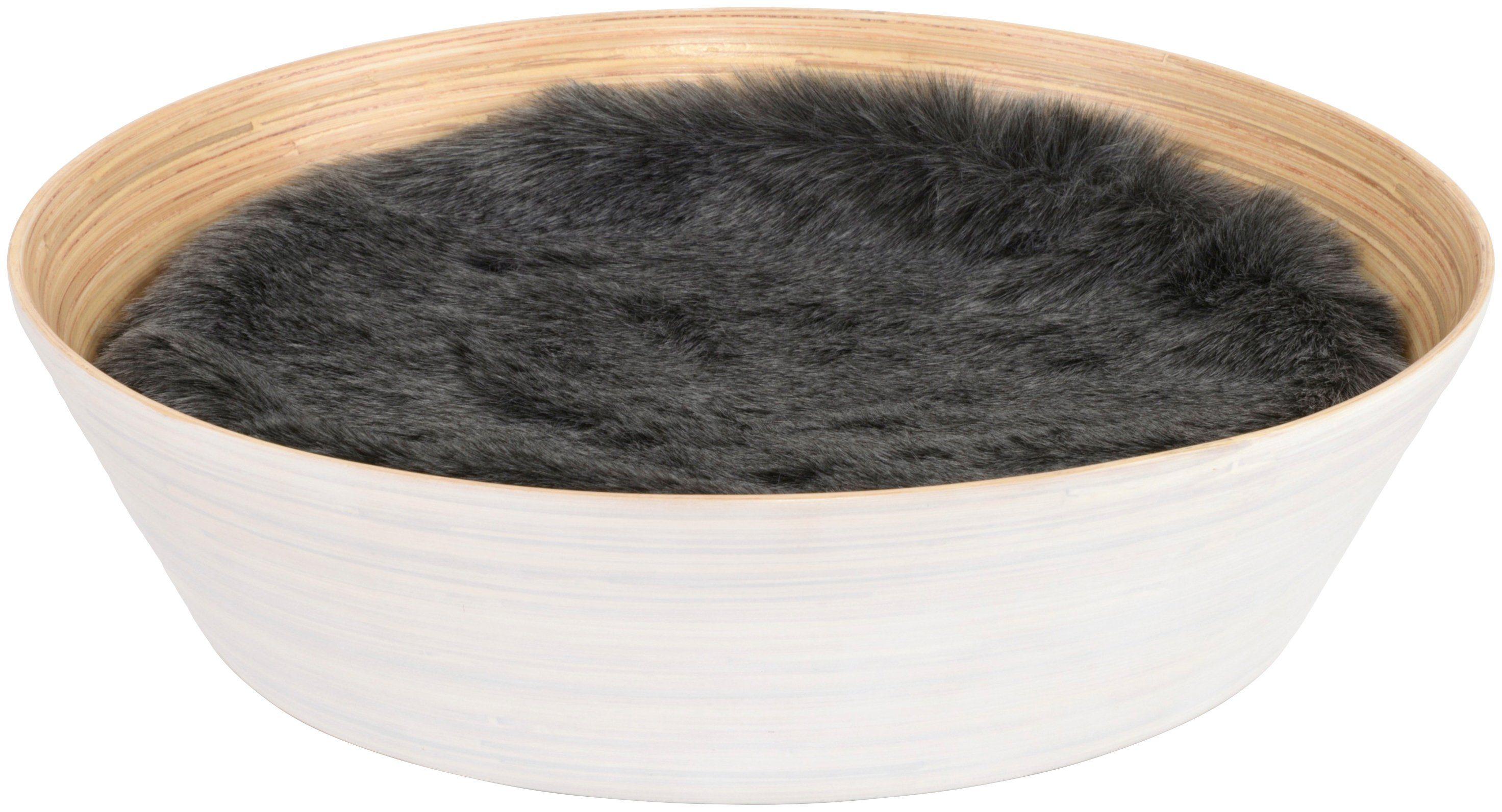 SILVIO DESIGN Katzenkorb »Ajumi Gr. 1«, B/L/H: 45/45/12 cm, weiß