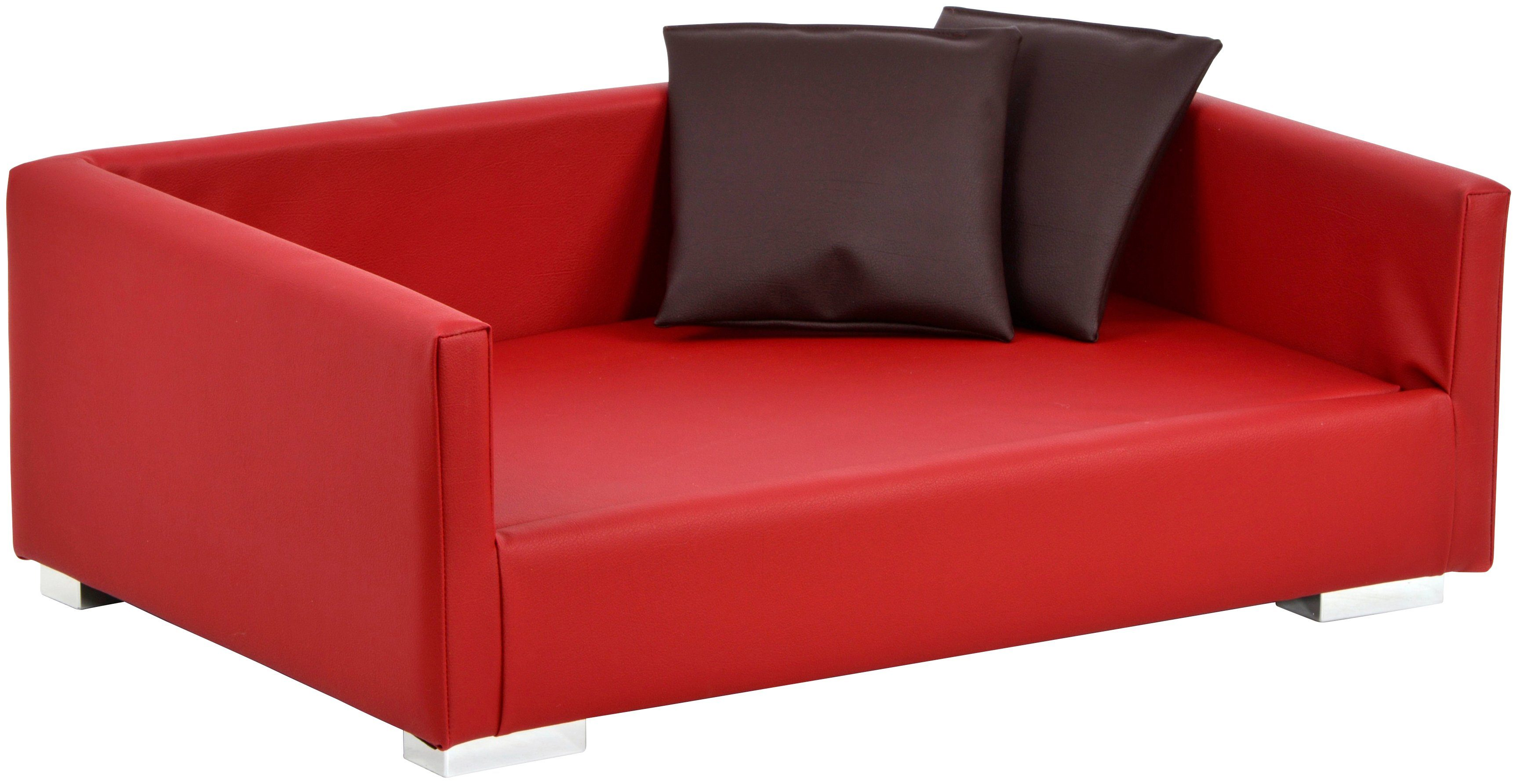SILVIO DESIGN Hundesofa und Katzensofa »Lucky Gr.1«, B/L/H: 70/40/20 cm, rot