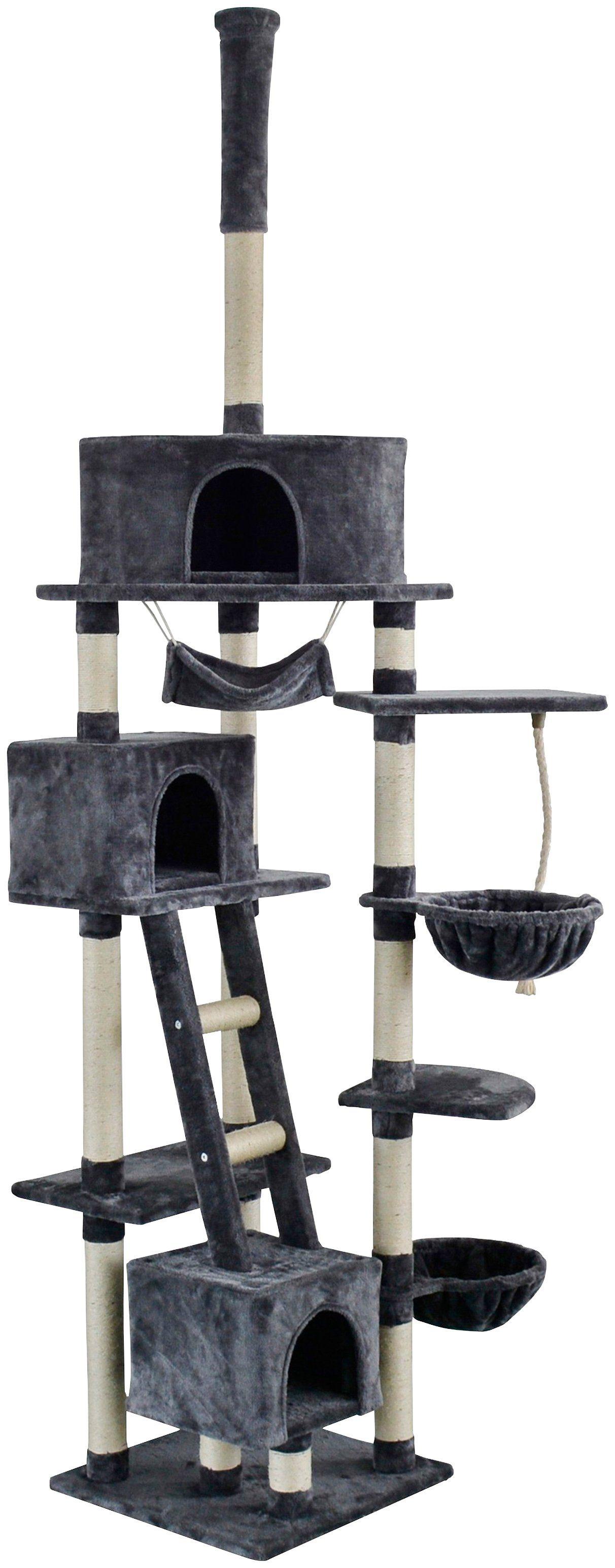 SILVIO DESIGN Kratzbaum-Deckenspanner »Rocky«, B/T/H: 70/50/230-250 cm, dunkelgrau