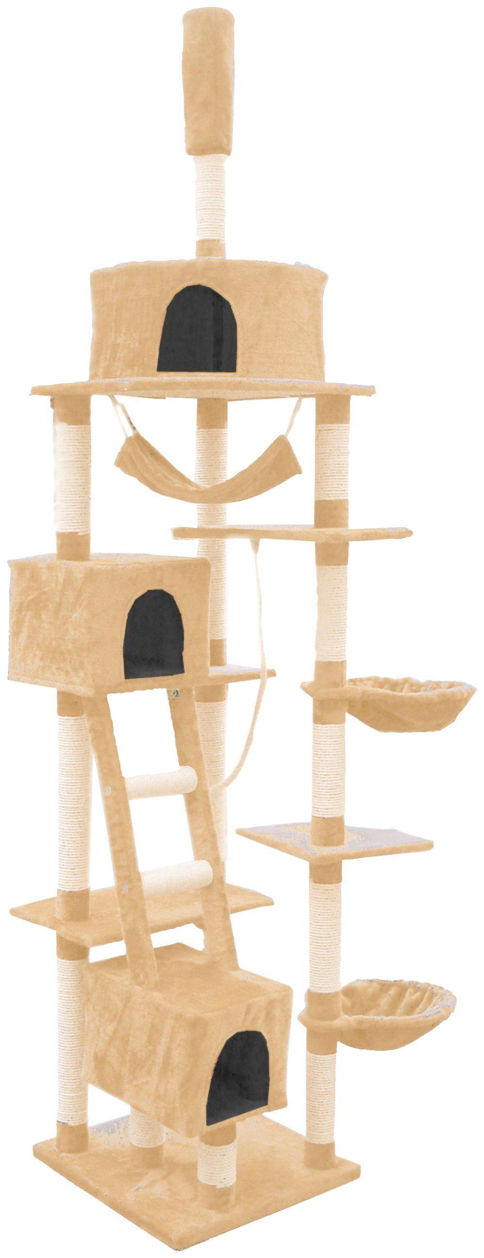 SILVIO DESIGN Kratzbaum-Deckenspanner »Rocky«, B/T/H: 70/50/230-250 cm, beige