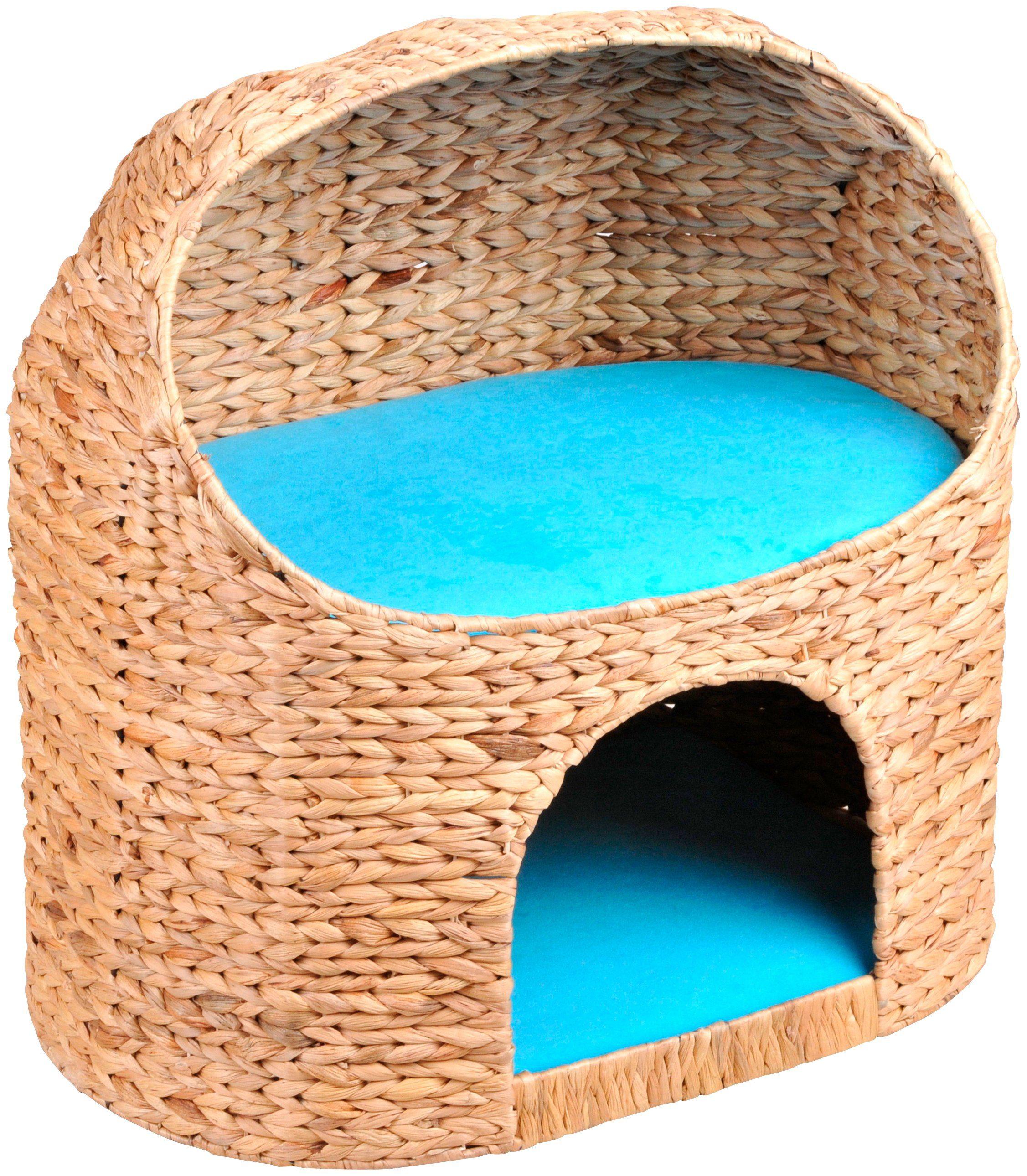 SILVIO DESIGN Katzenhöhle »Marvin«, B/L/H: 54/39/55 cm, türkis