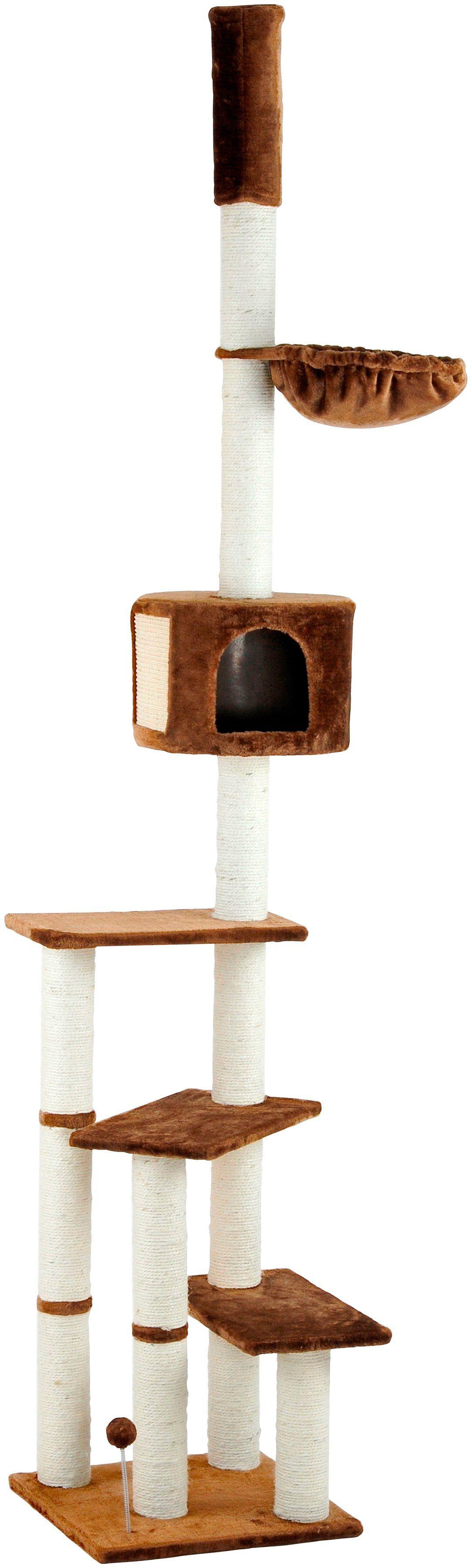 SILVIO DESIGN Kratzbaum-Deckenspanner »Kitty«, B/T/H: 45/45/240-260 cm, braun