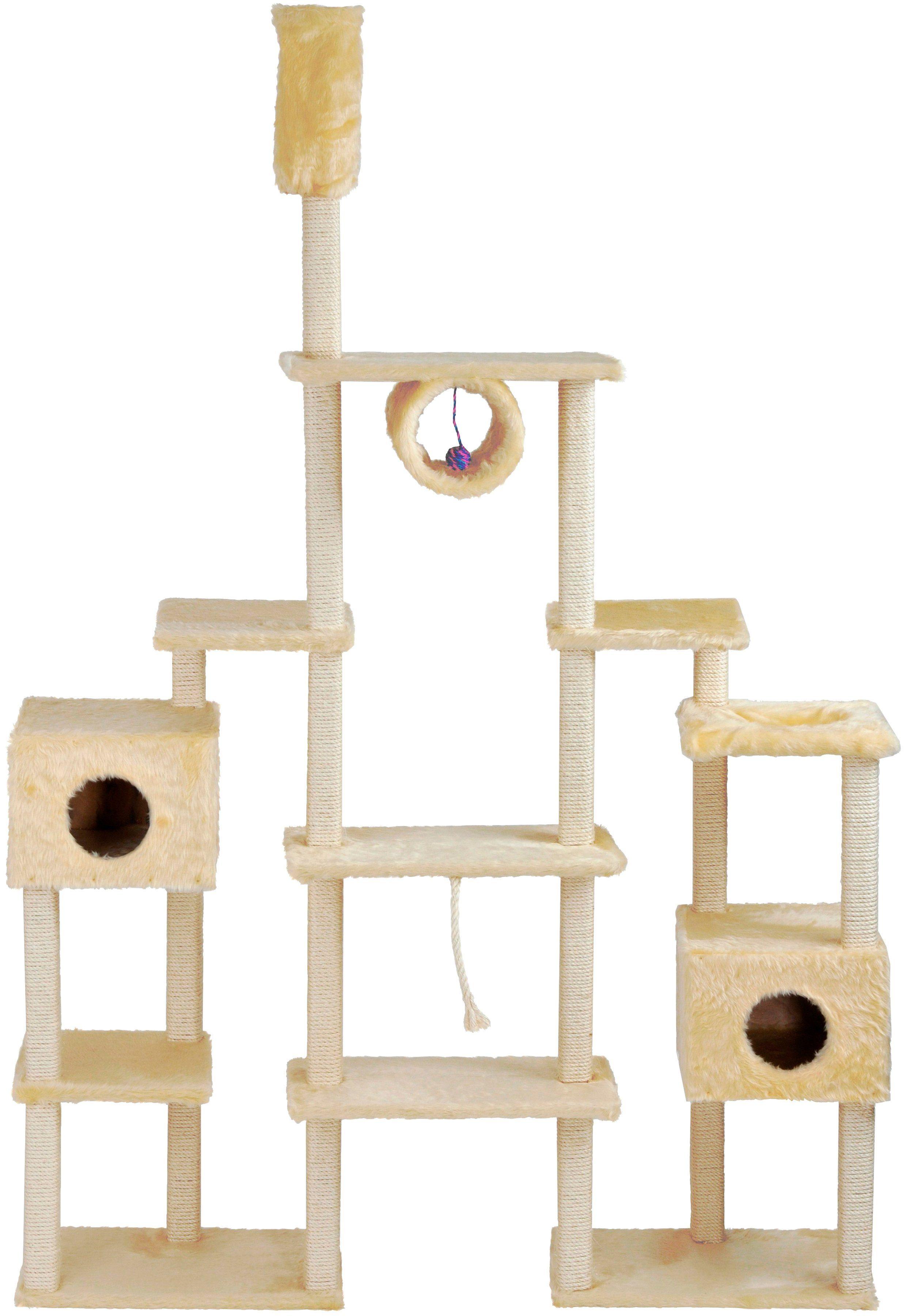 SILVIO DESIGN Kratzbaum-Deckenspanner »Serina«, B/T/H: 160/36/230-260 cm, beige