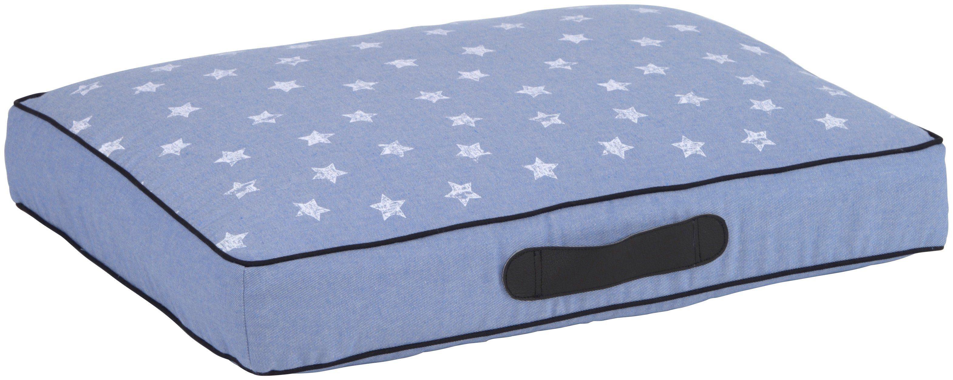 SILVIO DESIGN Hundebett und Katzenbett , B/L/H: 72/54/10 cm, jeansblau