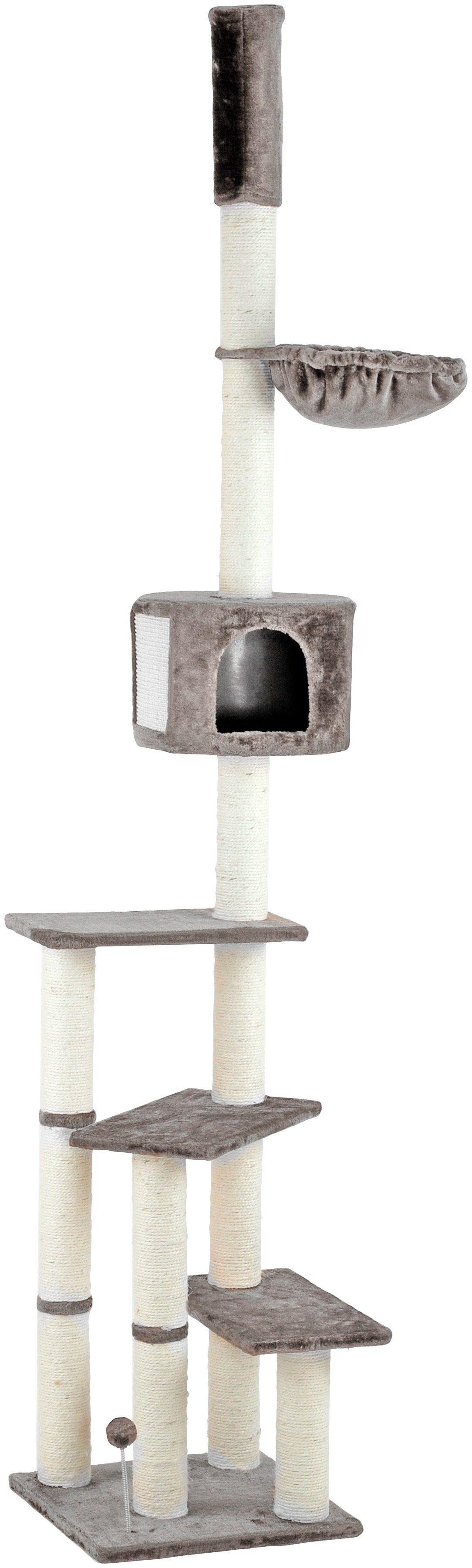 SILVIO DESIGN Kratzbaum-Deckenspanner »Kitty«, B/T/H: 45/45/240-260 cm, grau