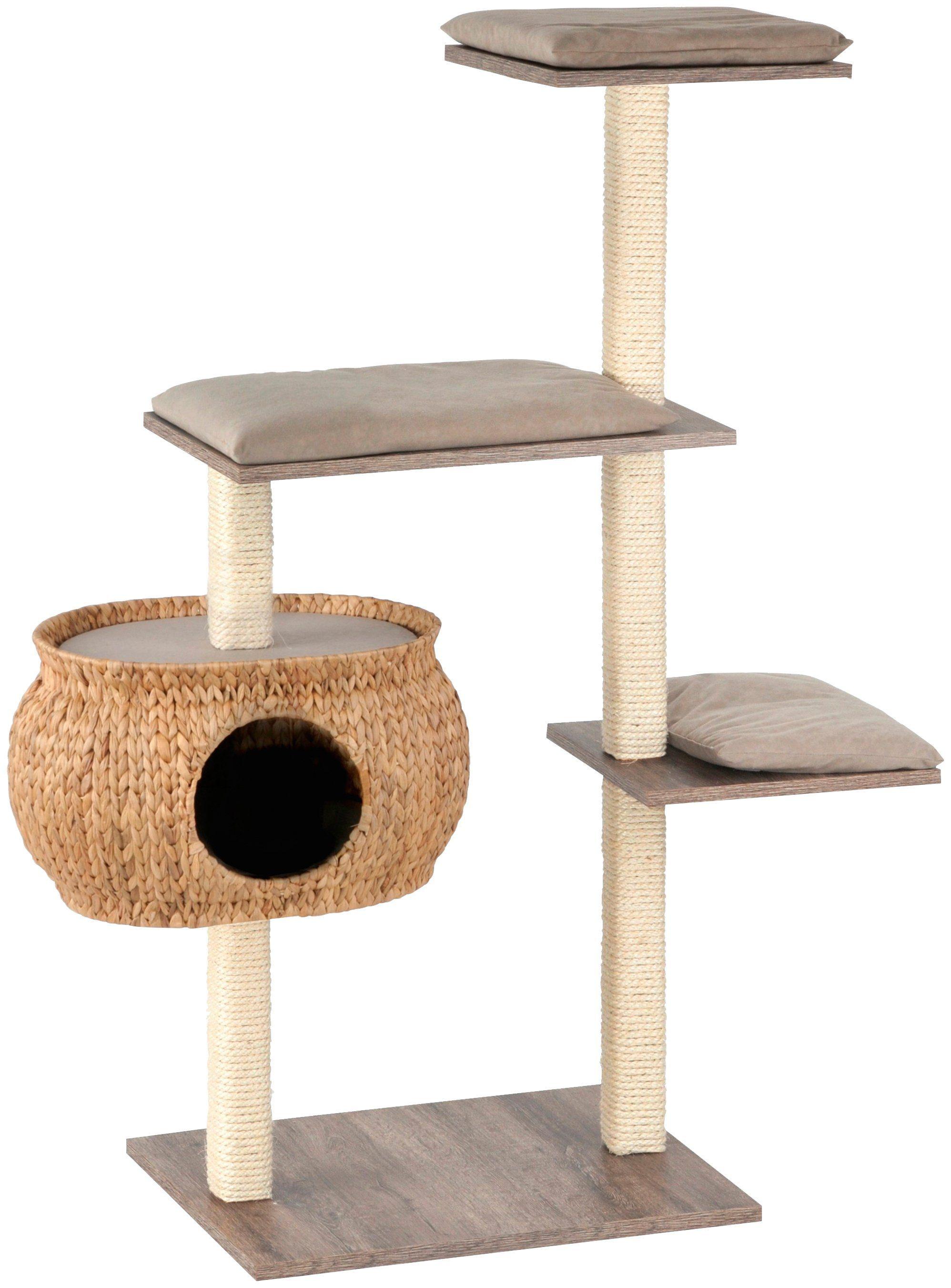 SILVIO DESIGN Kratzbaum »Katzenboy Cosy«, B/T/H: 40/115/130 cm, sanremodekor/sandfarben
