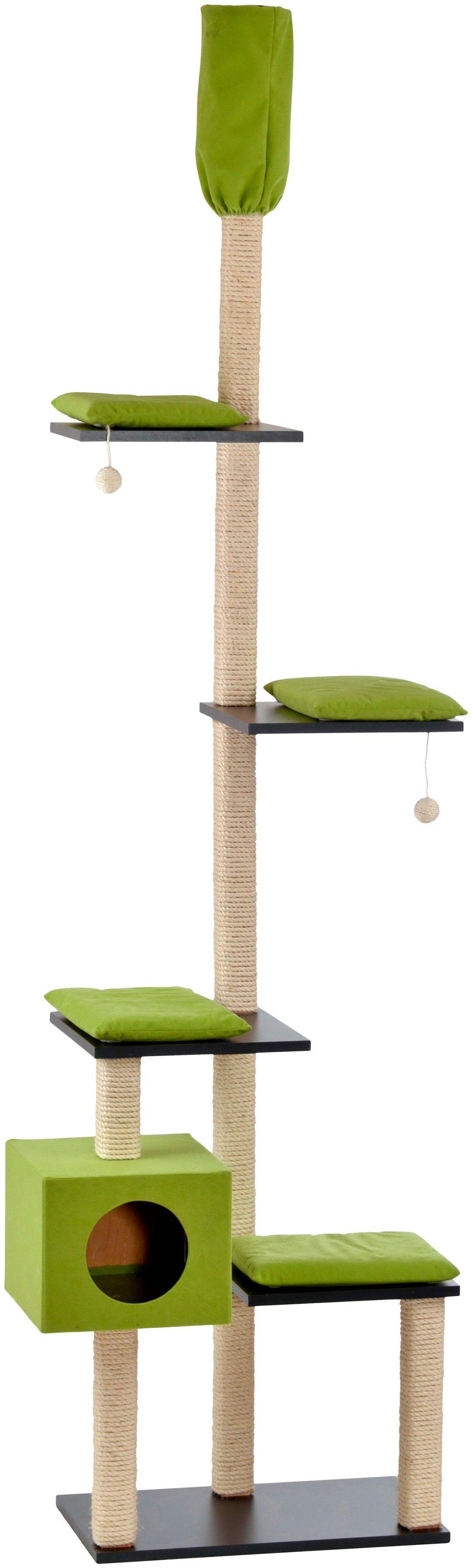 SILVIO DESIGN Kratzbaum-Deckenspanner »Bashira«, B/T/H: 73/47/230-260 cm, grün