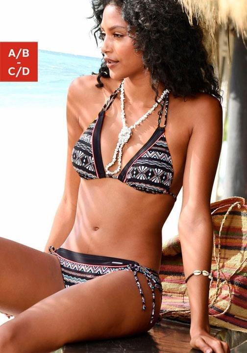 Damen Chiemsee Triangel-Bikini mit seitlichen Bindebändern schwarz | 04893865826795