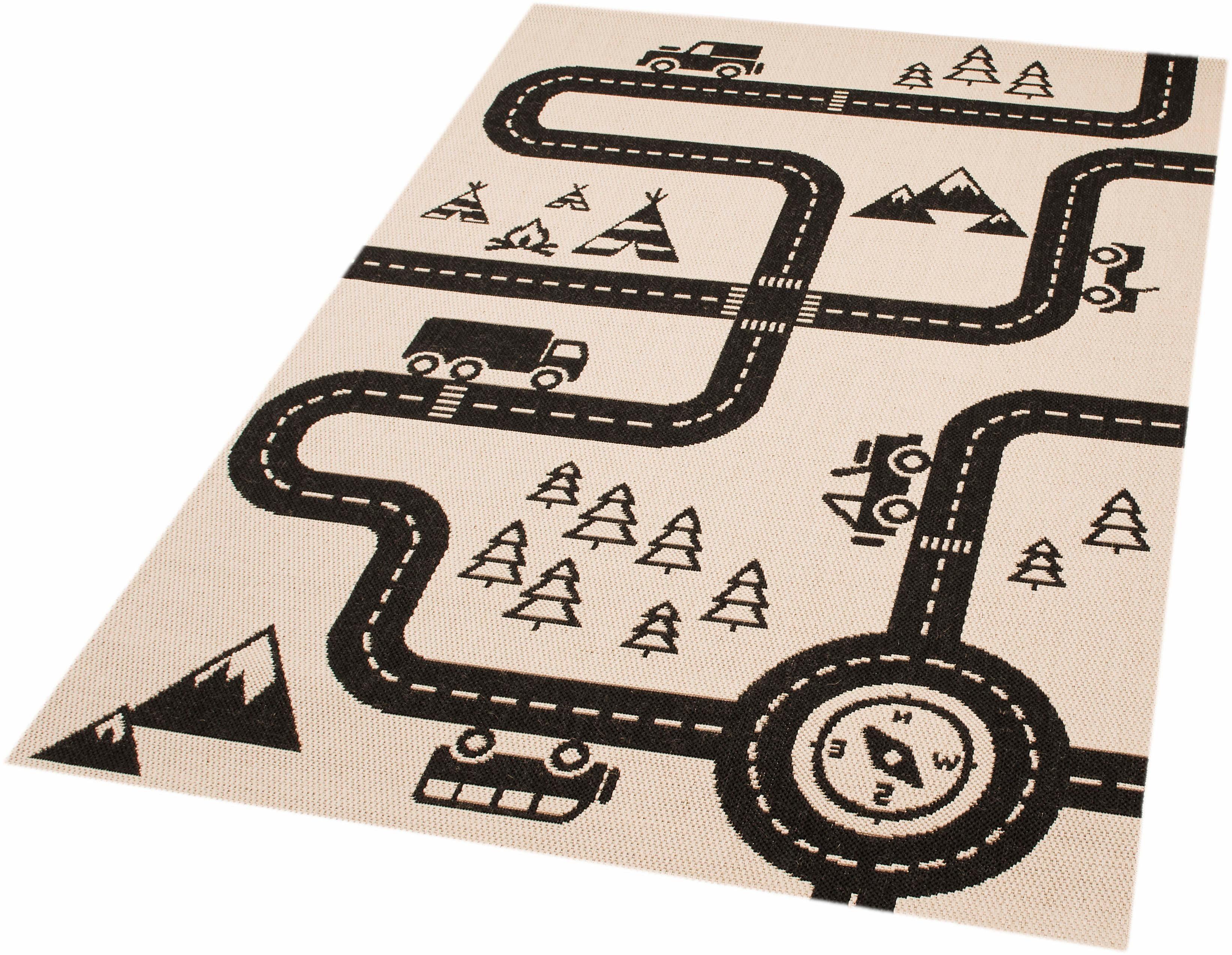 Kinderteppich »Road Map Charly«, Zala Living, rechteckig, Höhe 4 mm, Straßenteppich