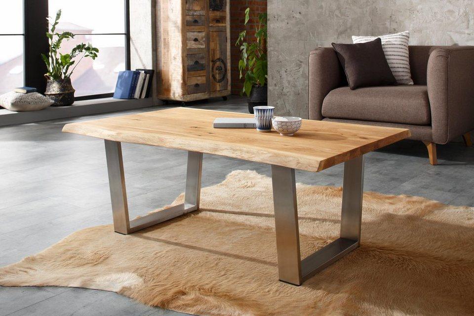 home affaire couchtisch oskar breite 120 cm im baumkanten look online kaufen otto. Black Bedroom Furniture Sets. Home Design Ideas