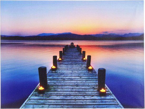 Home affaire LED-Bild »Steg«, 40/30 cm