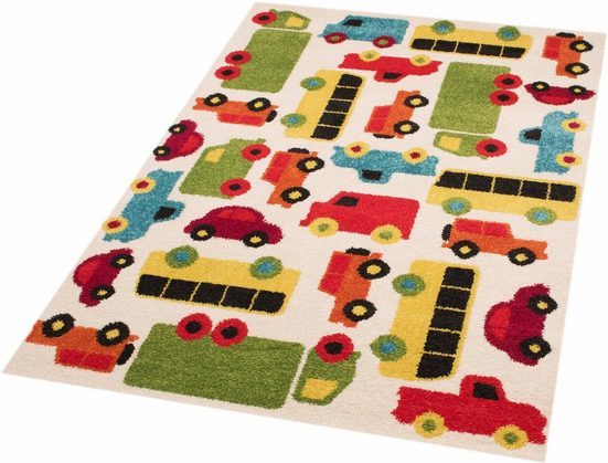 Kinderteppich »Cars Mason«, Zala Living, rechteckig, Höhe 8 mm, Spielteppich, besonders weich durch Microfaser
