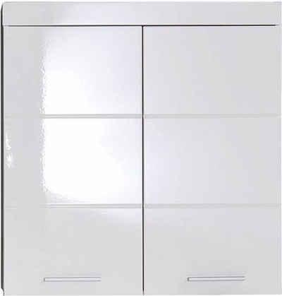 trendteam Hängeschrank »Amanda« Breite 73 cm, Badezimmerschrank mit verstellbare Zwischenböden, MDF-Fronten in Hochglanz- oder Holzoptik