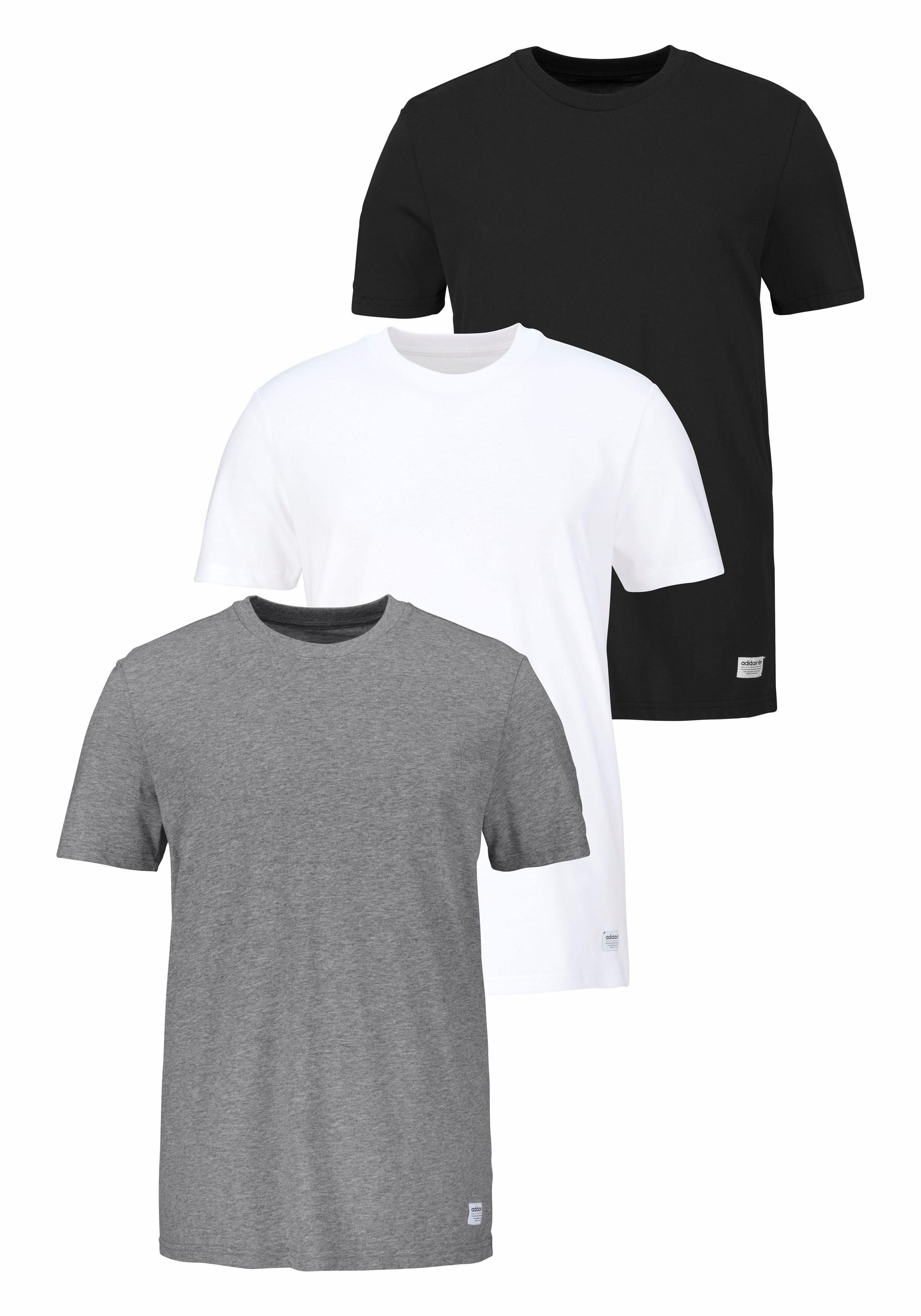adidas Originals T Shirt »3 PACK TEES« (Spar Set, 3 tlg., 3er Pack) online kaufen | OTTO