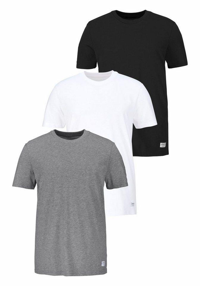31fb5cf6597dd adidas Originals T-Shirt »3 PACK TEES« (Spar-Set, 3-tlg., 3er-Pack ...