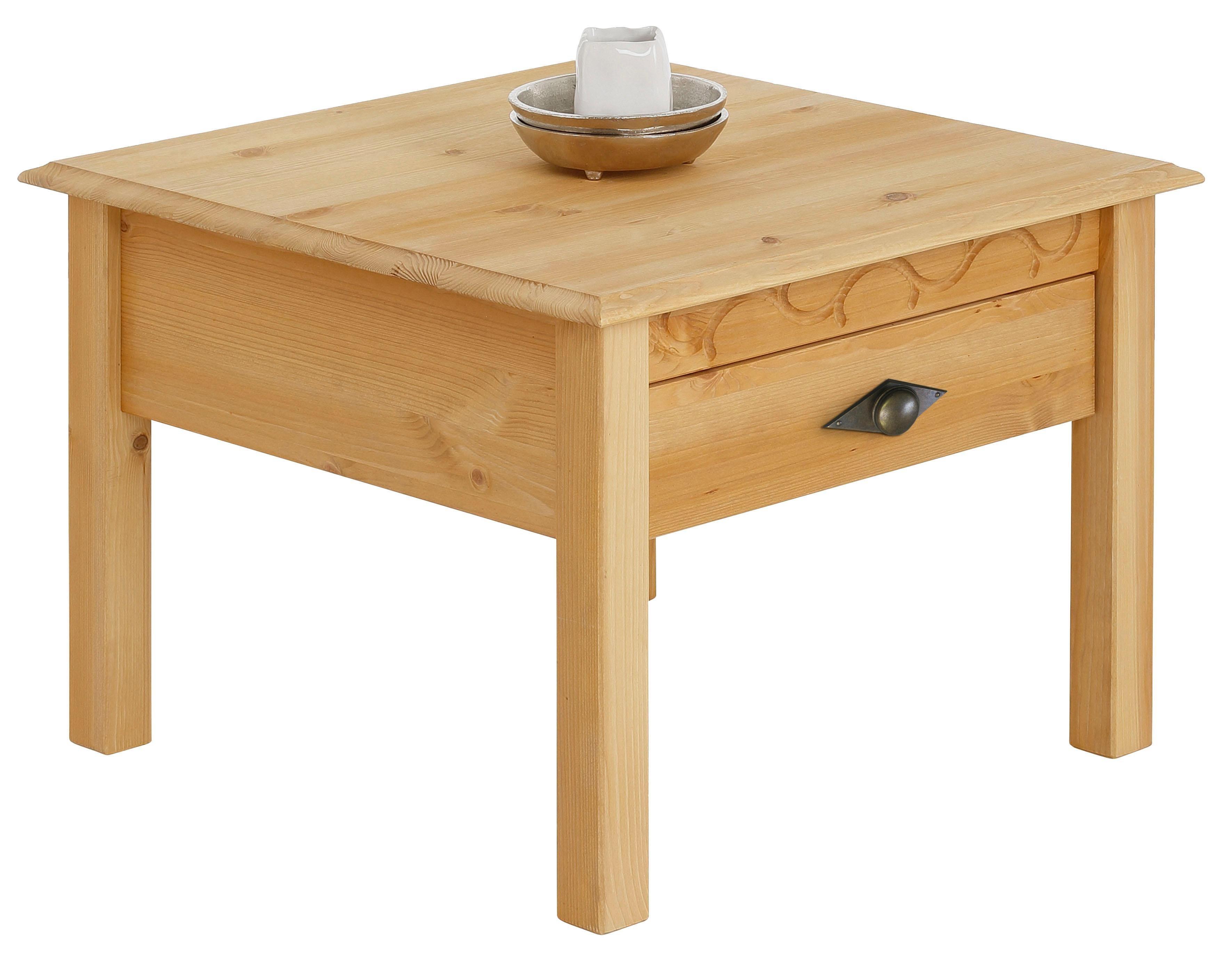 Home affaire Couchtisch «Laura», 60/60 cm, mit einer Schublade | Wohnzimmer > Tische > Couchtische | Home affaire
